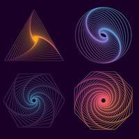 Geometric Line Art Shapes vector