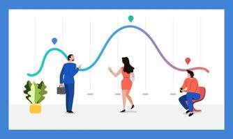 Teamwork data analytics vector