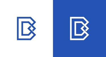 Logotipo moderno y elegante de la letra b dan d con símbolo de infinito vector