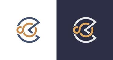 Abstract classy letter circle letter C infinity logo vector