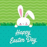 Happy Easter Day bunny head illustration vector