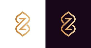 elegante y lujoso logotipo de letra z infinito, elegante infinito con plantilla de logotipo de letra z inicial