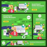 conjunto de banners de marketing digital