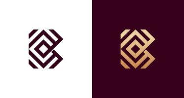 Abstract geometric letter BC elegant monogram logo vector