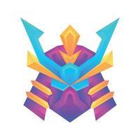 Plantilla de diseño de concepto de vector samurai degradado colorido creativo