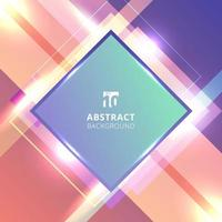 Abstract technology background diagonal geometric square bright color overlapping with lighting effect. vector