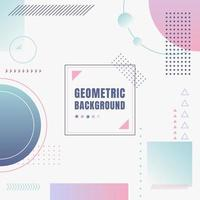Abstract modern pastel color geometric composition forms on white background vector