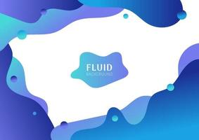 Abstract fluid shape gradient blue color isolated on white background. vector