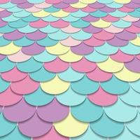 Abstract pattern fish scale motif pastel color perspective background and texture. vector
