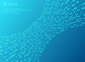 Abstract technology futuristic style dots neon pattern curve on blue background. vector