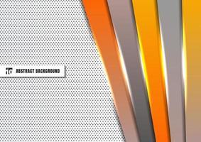 Plantilla abstracta barra de rectángulo geométrico diagonal naranja y gris superpuesta sobre fondo blanco vector