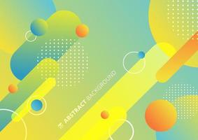 Líneas de formas geométricas redondeadas coloridas abstractas en ritmo diagonal con elementos de círculos fondo de composición dinámica. vector