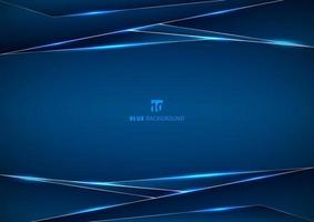Template metallic blue and shine lighting frame layout design technology innovation concept with space your text. vector