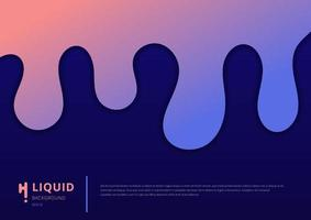 Abstract pink and blue gradient liquid flow background. vector