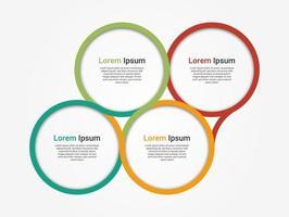 diseño infográfico moderno. Visualización de datos comerciales y gráfico de procesos. vector