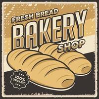 Retro Vintage Bakery Shop Poster vector