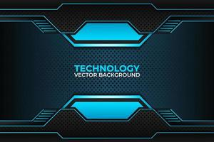 Black and blue background design, technology corporate business template. vector