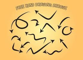 Hand Drawing Cartoon Comics Arrows vector