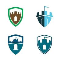 conjunto de imágenes de logotipo de castillo vector