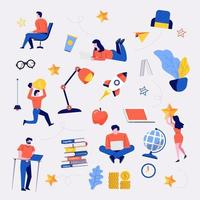 Business doodles vector set