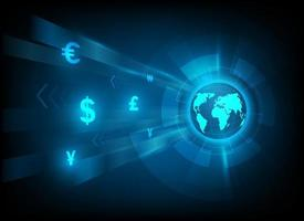 Currency exchange symbol and international money transfer illustration vector