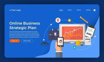diseño de maqueta para sitio web de marketing digital vector