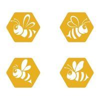 conjunto de imágenes de logotipo de abeja vector