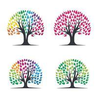 Tree logo images design set vector