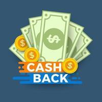 Cash illustration concept vector