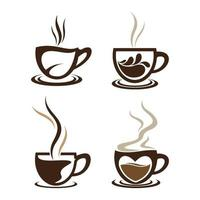 Coffee cup logo images set vector