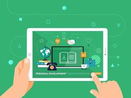Online education using a tablet vector