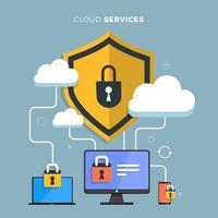 servicios de computación en la nube vector