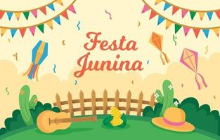 Festa Junina Celebration Background vector