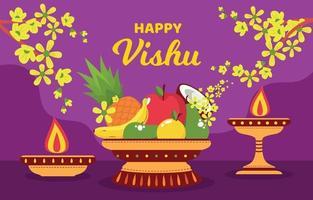 Tradition Of Vishu Festivity Background vector