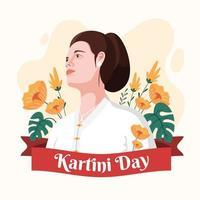 Beautiful Kartini Day Design vector
