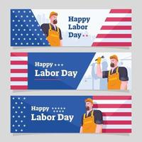 Labor Day Banner Template Collection vector