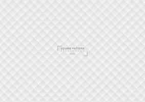 Abstract 3D square pattern geometric white gradient background and texture. vector