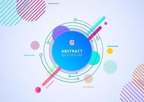 Fondo de diseño de patrón geométrico de círculo colorido abstracto textura de puntos radiales. vector