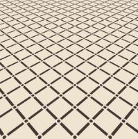 Abstract brown square with circle joint pattern floor on light brown perspective background. vector