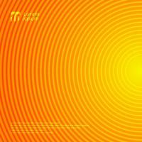 Beautiful radial motion circle lines pattern on orange and yellow gradient color abstract background and texture. vector