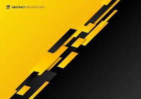 Abstract technology template geometric diagonal overlapping separate contrast yellow and black background. vector