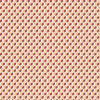 Geometric 3D seamless pattern orange cubes shapes on white background.