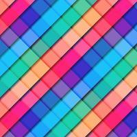 Fondo abstracto del color vibrante del modelo cuadrado geométrico rayado 3d. vector