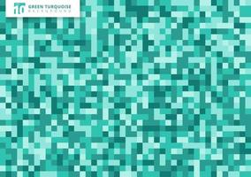 Green turquoise mosaic seamless pattern background and texture. vector