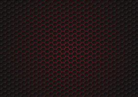 Abstract black hexagon pattern, futuristic texture vector