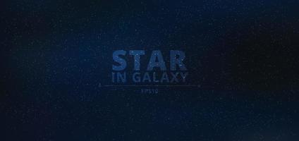 noche brillante estrellada en galaxia sobre fondo de cielo azul noche oscura vector