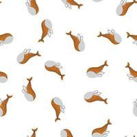 ballenas caótico escandinavo diseño de impresión de patrones sin fisuras. diseño de ilustración vectorial para telas de moda, gráficos textiles, estampados vector
