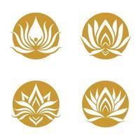 Beauty lotus logo images set vector