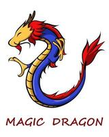 Magic chinese dragon color eps 10 vector
