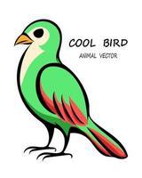 Vector of a green bird eps 10